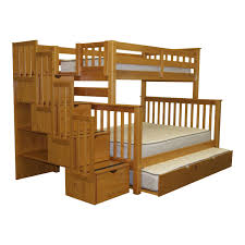 Amazon Com Bunk Bed All In 1 Loft With Trundle Desk Chest Closet by Plans For Bunk Beds Ktactical Decoration