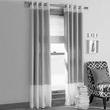 Black And White Furniture by White Curtain Panels Tier Shown In White Exclusive Fabrics