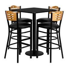 Pub Style Dining Room Set Square Pub Table Amazoncom Winsome U0027s Parkland 3 Piece Square