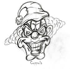 Clown Coloring Pictures Coloring Scares
