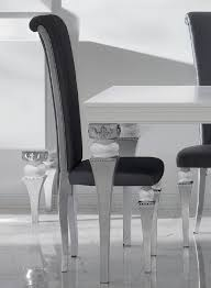 Silver Dining Chairs Magnus High Back Black And Silver Leaf Frame Dining Chair