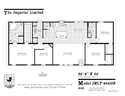moble home floor plans imlt 46412b mobile home floor plan ocala custom homes