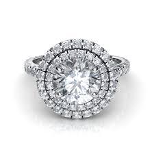 circle engagement ring cut pavé halo cut diamond engagement ring