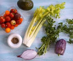 tomato u0026 celery salad with cumin five senses palate