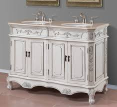 Marble Top Double Vanity Luisa Collection 50 Inch Double Sink Vanity With Cream Marble Top