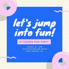 pool party invitation templates canva