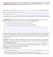 Interior Design Letter Of Agreement Contractor Agreement Independent Contractor Agreement Form Sample