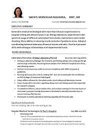 Medical Technologist Resume Sample by Curriculum Vitae 1 1 3
