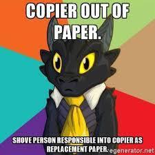 Copy Machine Meme - paperless accuprint inc