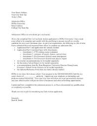 brilliant ideas of university admission application letter sample