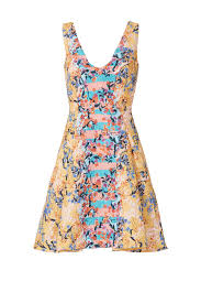 orange floral jess dress by saloni for 65 85 rent the runway