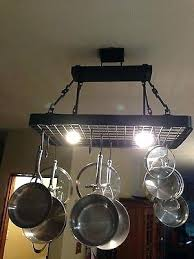 kitchen pot racks with lights kitchen pot rack with lights bloomingcactus me