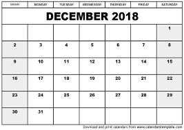 printable december 2016 calendar pdf december 2018 calendar template word calendar printable template