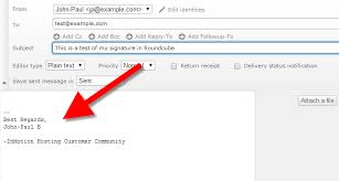how to create an email signature in roundcube inmotion hosting