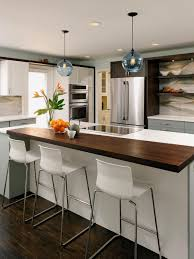 perfect kitchen islands idea for small space with white chairs