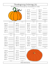 new 2012 10 03 thanksgiving math worksheet ordering pumpkin