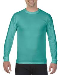 Comfort Colors Chalky Mint 6014 Long Sleeve Tee Comfort Colors Dyehouse Usa