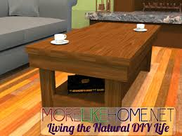 Plans For Wooden Coffee Tables by Linked With This Pin And Found 31 Furniture Projects Made From 2x4