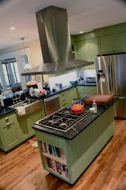 Kitchen Cabinets With Island Kitchen Modern Warm Green Kitchen Cabinet With Island Light Wood