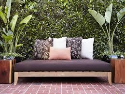 Outdoor Daybed Mattress Lawn Garden Black Outdoor Daybed Mattress Floral Pillowcases And