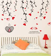theme wall buy pvc vinyl hanging flowers theme wall sticker by cortina online