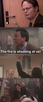 Fire Drill Meme - 23 times the office characters had a way worse day than you