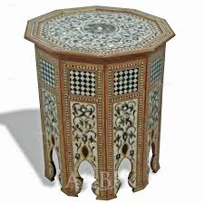 mediterranean levantine syrian furniture inlaid with mother of picture of style no 93698 syrian moroccan mosaic octagon side table