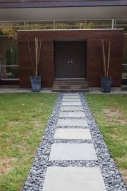 Mid Century Modern Landscaping by Great Mid Century Walkway Pavers And Gravel For The Home