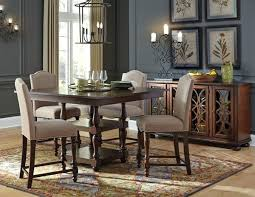 dining table round dining room table with upholstered chairs