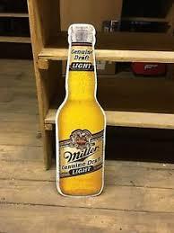 miller genuine draft light miller genuine draft light bottle metal beer sign 30 x8 mgd ebay
