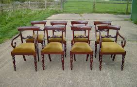 Regency Dining Chairs Mahogany Antique Furniture Warehouse Set Regency Dining Chairs Set Of 8