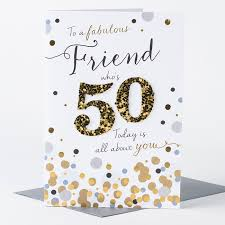 50th birthday card friend who u0027s 50 only 1 49