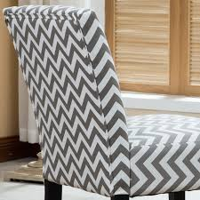 Grey Patterned Accent Chair Amazon Com Roundhill Furniture Botticelli Grey Wave Print Fabric