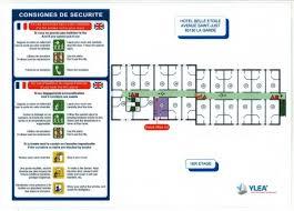 plan chambre d hotel achat consigne d incendie chambres d hôtel avec plan pas cher
