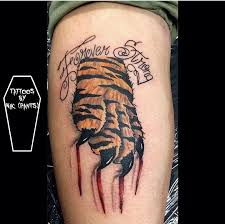 nikpants tiger paw scratch tiger paw color blood tiger lettering