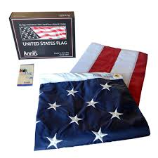 Flags Made In Usa Amazon Com American Flag 5x8 Ft Nylon Solarguard Nyl Glo By
