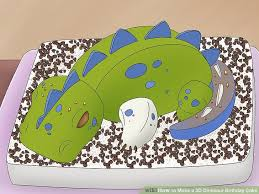 dinosaur birthday how to make a 3d dinosaur birthday cake 15 steps with pictures