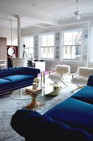 livingroom soho soho nyc loft tamra sanford living room fuzzy chairs blue velvet