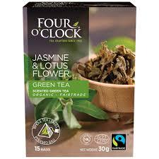 Lotus Flower Tea - organic jasmine u0026 lotus flower scented green tea four o u0027clock