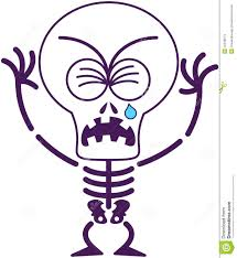 cute halloween skeleton crying and sobbing stock vector image