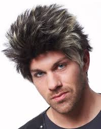 gray frosted hair mad max road warrior spiked black and gray wig costume new ebay
