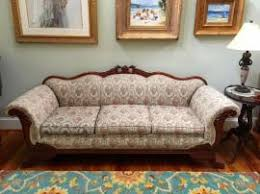 wood trim sofa cost to transport a vintage sofa with wood trim to white city