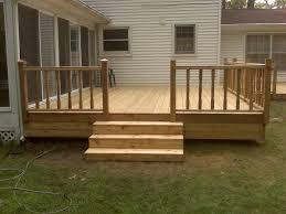 Ideas For Deck Handrail Designs Simple Deck Ideas 1st Cedar Deck Img00051 Jpg New House