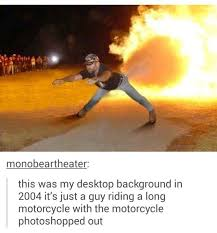 Motorcycle Meme - invisible motorcycle photoshop know your meme