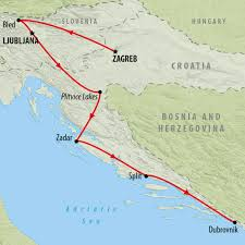Map Of Croatia And Italy by Tour Of Croatia U0026 Slovenia For 7 Days On The Go Tours