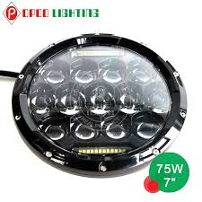 round led lights for jeep wholesale 75w jeep led headlights 12v 24v 7 jeep 75w jeep led