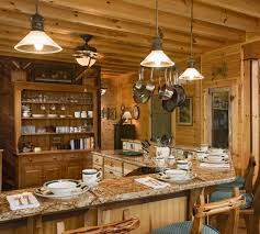 Painting Interior Log Cabin Walls by Mahogany Wood Unfinished Prestige Door Rustic Kitchen Lighting
