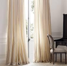 White Taffeta Curtains Taffeta Multistripe Drapery