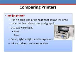 comparing printers computer concepts unit b comparing printers