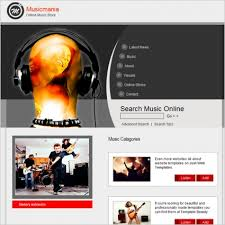 music and entertainment templates free website templates for free
